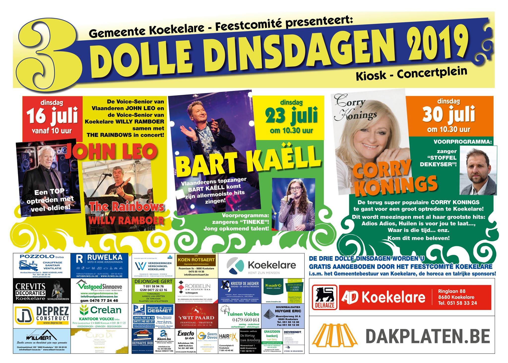 Dolle dinsdagen Koekelare - affiche